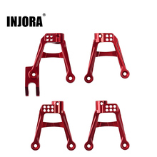 INJORA 4PCS RC Car CNC Aluminum Shock Damper Towers Mount for 1/10 RC Crawler SCX10 II 90046 90047