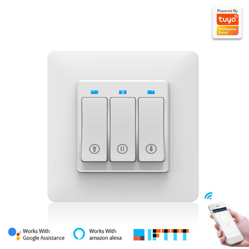 Smart Life WiFi Roller Shutter Switch WiFi Curtain Blinds Touch Switch Google Home Alexa Curtain Motor