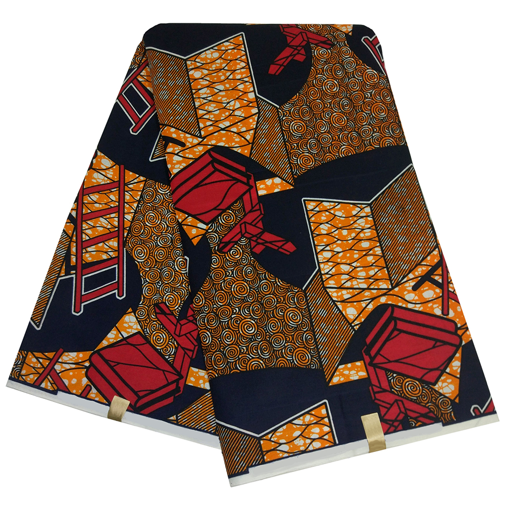2019 Newest Arrival Fashion Design Pagne African High Quality Tissus African Ankara Top Wax Fabric 6Yards\Lot