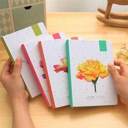 2020 Blank Vintage Sketchbook Diary Drawing Painting 112 arkusz piękny kwiat zeszyt szkolny z kolorowym papierowym prezentem papierniczym