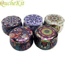 Flower Design Metal Tin Box Candle Tea Cans Candy Chocolate Cookie Baking Packag