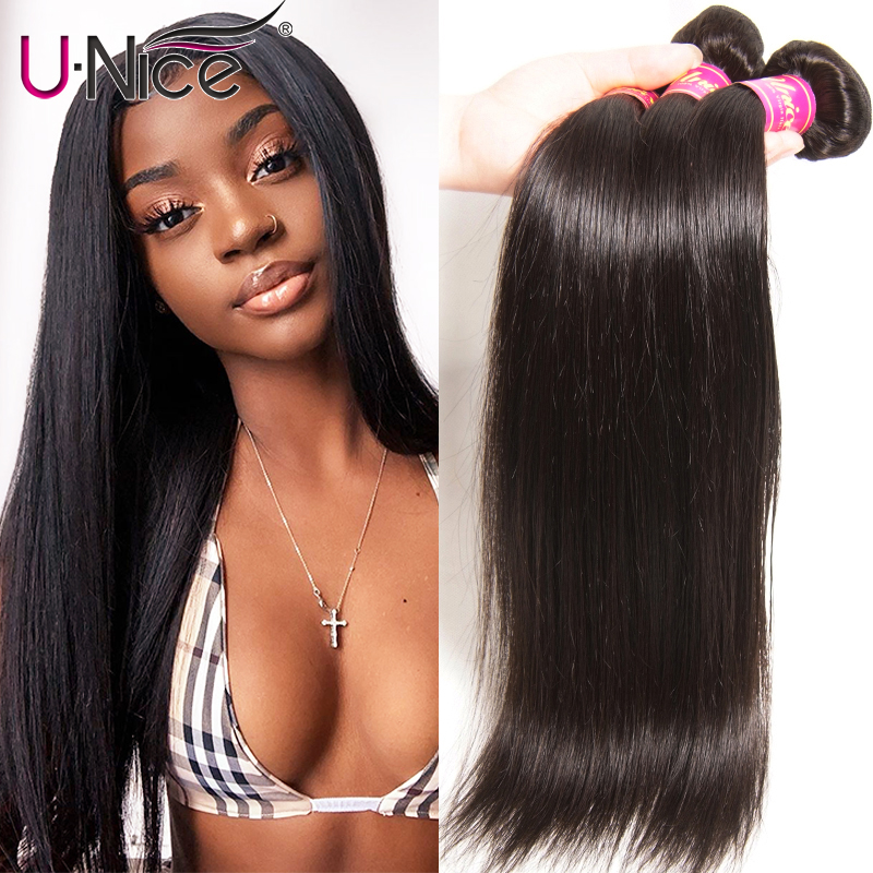 UNICE HAIR Peruvian Straight Hair Bundles Natural Color 100% Human Hair Extensions 8-30inch Remy Hair Weaving 1 Piece