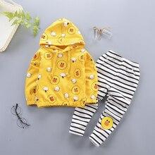 BibiCola/комплекты одежды для маленьких девочек Осенняя повседневная одежда для девочек, толстовки+ штаны, спортивные костюмы из 2 предметов детская одежда для девочек