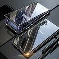 360 Полный корпус защитный чехол для samsung Galaxy Note 10 Plus Pro Note10 Алюминиевый металлический магнитный бампер двухсторонние стеклянные чехлы