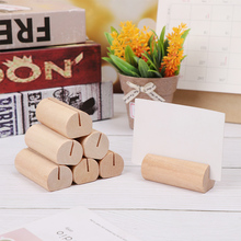 Clips Desk-Organizer Picture-Frame Photo-Holder Wood-Notes Natural DIY 3types 1pc Clamps
