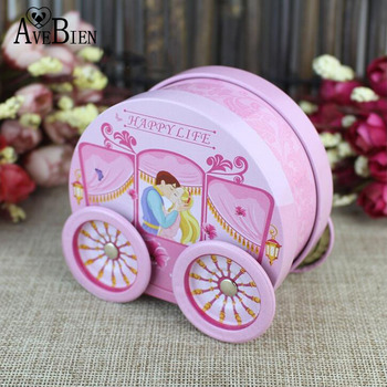 10pcs Tinplate Candy Box Gift Boxes Wedding decoration Supplies Stroller Shape Baby Wedding  Party Anniversary Wedding Gifts