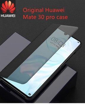 Luksusowe Smart Touch Mate30pro oryginalne skórzane etui z klapką do Huawei Mate 30 20 P30 Pro Mate20x Mate30 5G zobacz okno telefon okładka
