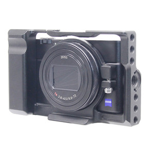 Image 5 - Aluminum Alloy Camera Cage Protective Case for Sony RX100 M7 VII 7 Quick Release Plate Stabilizer Adapter w/ 1/4 Thread Holes