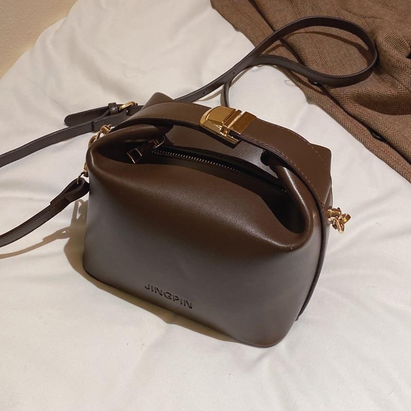 Vintage Fashion Female Small Tote bag 2019 New High Quality PU Leather Women's Designer Handbag Lock Shoulder Messenger Bag