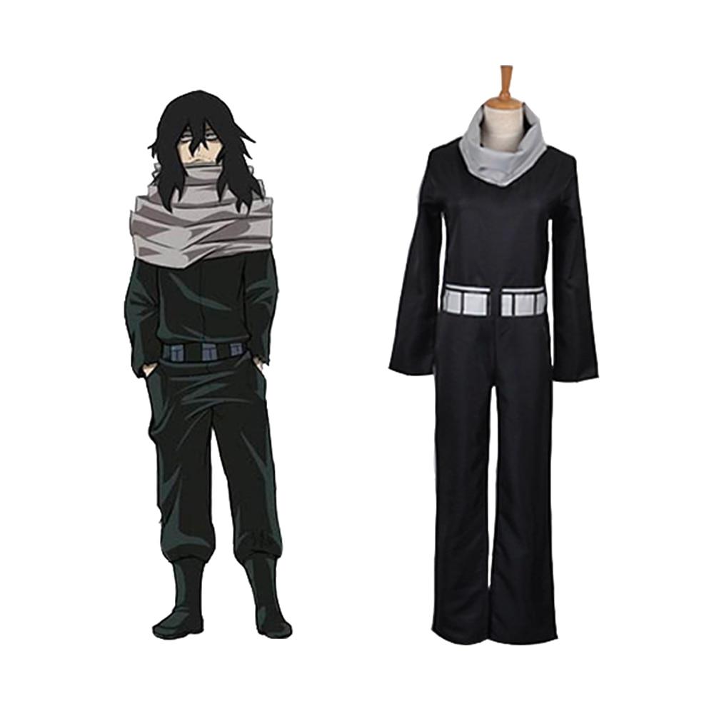 Anime Boku No My Hero Academia Shota Aizawa Eraser Head Cosplay Costume Jumpsuit Scarf Waist Blet Adult Men Carnival Outfit Suit