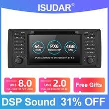 Isudar PX6 אנדרואיד 10 Hexa Core 1 דין אוטומטי רדיו עבור BMW 5 סדרת E39 CANBUS רכב מולטימדיה וידאו DVD נגן GPS ניווט DSP