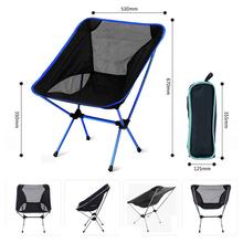Portable Camping Beach Chair Lightweight Folding Fishing Outdoorcamping Outdoor Ultra Light Orange Red Dark Blue Beach Chairs cheap Bahmetev Metal Aluminum Fishing Chair 60*56*35cm ELH050 Modern