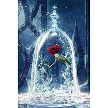 Алмазная вышивка 5Д красивые розы Алмаз вышивки крестом Кристалл площади устанавливает незавершенные декоративные DIY живопись