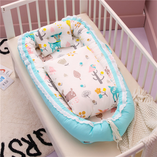 Bébé Lit bébé /& oreiller berceau lit bébé nid nouveau-nés Literie Nurserie ensembles 0-12 mois