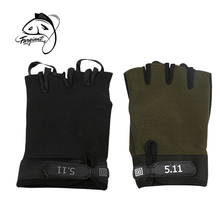 Fargiant 1 Pair Half Finger Breathable Fishing Gloves Non-Slip Outdoor Sports Gloves Fishing Tool Accessory oumily outdoor tactic half finger gloves khaki size l pair