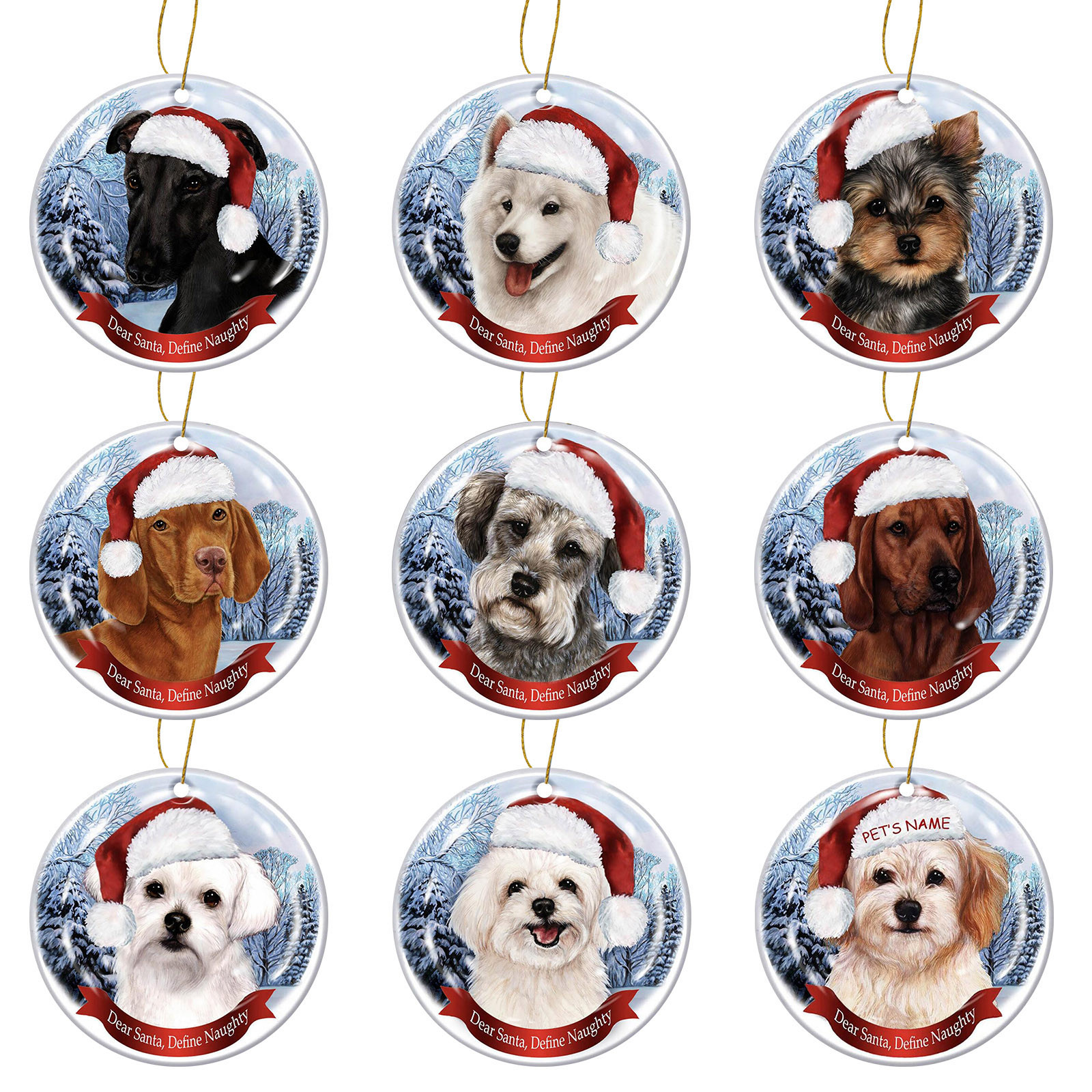 Dog Tree Pendants Merry Christmas  1