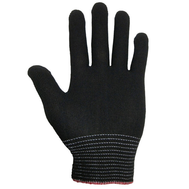 4pcs= 2 pairs White Black Nylon Antistatic Work Gloves Knit Working Gardening Lumbering Hand Safety Security Protector Grip 4