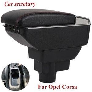 Подлокотник для Opel Corsa, Универсальный центральный автомобильный подлокотник для хранения, подстаканник, пепельница, аксессуары для модифик...