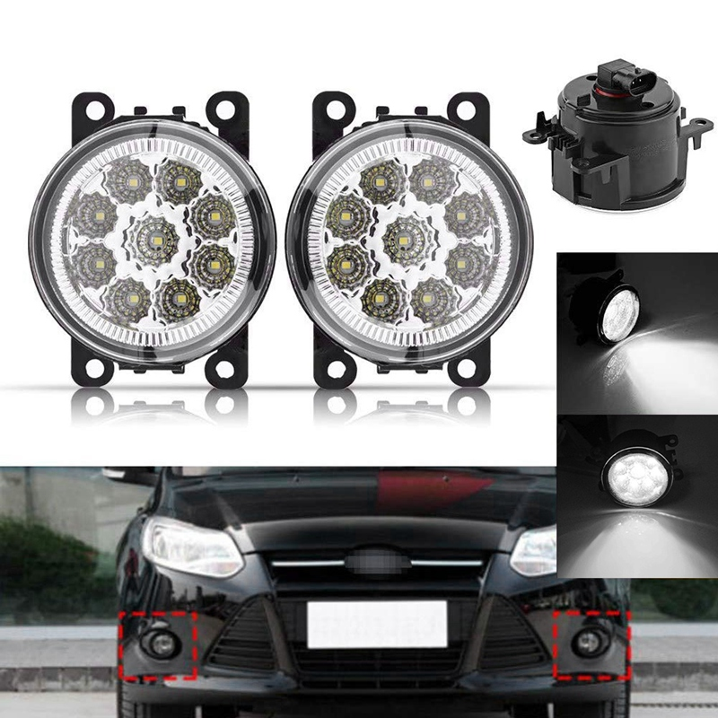 Fransande 4F9Z-15200-AA 33900-STK-A11 2PCS Car Fog Lamps Lighting LED Lights for and More