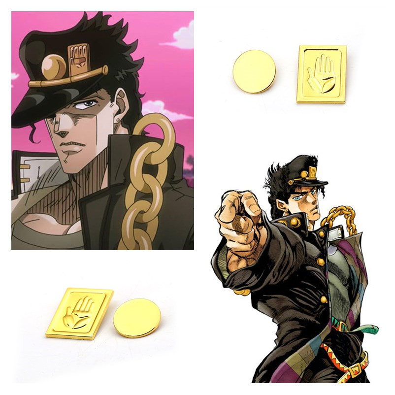 Classic Anime JoJo's Bizarre Adventure Cosplay Accessories Kujo Jotaro Badge Brooch Pin Props Toys Gifts Decoration New