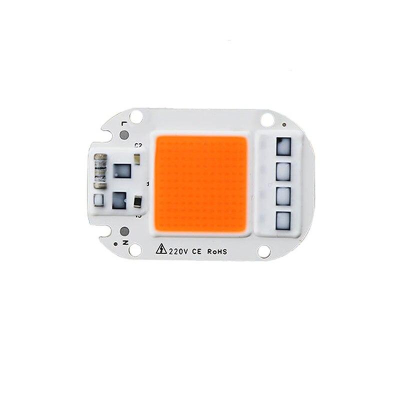 1 шт. светодиодный светящийся чип 20 Вт 30 Вт 50 Вт 230 в полный спектр 380нм ~ 780нм лучший для гидропоники теплицы для выращивания DIY для светодиодной лампы|Промышленные LED-лампы|   | АлиЭкспресс