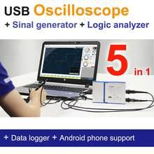 Série loto osc482, osciloscópio/gerador de sinal/analisador lógico/..., 5 em 1, 50m s/s, resolução de 8 bit 13 bits, módulos opcionais