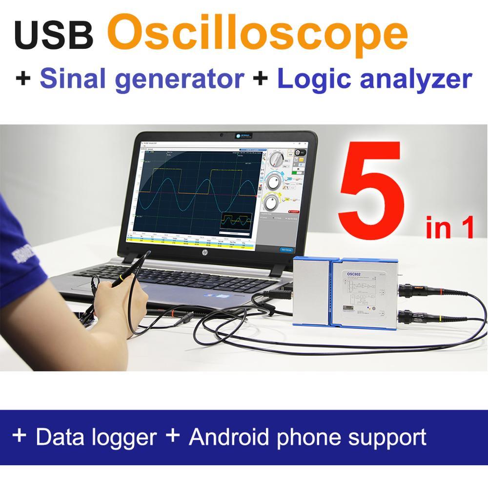 Aletler'ten Osiloskoplar'de LOTO OSC482 serisi  osiloskop/sinyal jeneratörü/mantık analizörü/...  5 in 1  50M S/s  8 ~ 13 bit çözünürlük  isteğe bağlı modülleri title=