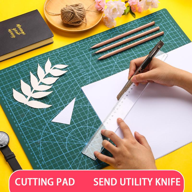 A3 Cutting Board Manual Pad Engraving Cutting Cutting Cutting Paper Side Table Pad Double-sided Scale With Anti-cut Carving