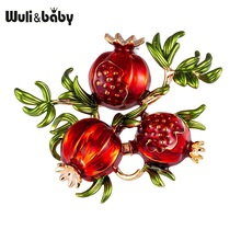 Brooches Alloy-Fruits Pomegranate Baby Casual Women Enamel Gifts Weddings for Pins
