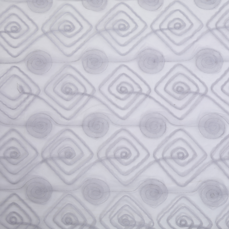 5yards Circle Square Double Row Embroidery Mesh Tape Embroidery Grid Embroidery New Mesh Fabric For Women's Wear