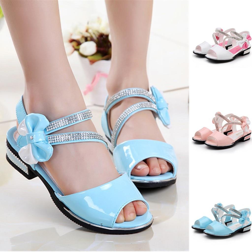 Dance-Sandals Princess-Shoes Toddler Baby-Girls Kids Summer Children's Bowknot Infant