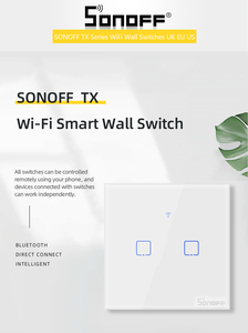 Image 5 - Sonoff T1 EU 1/2/3C Smart Wifi Touch Switch Light 220V RF/433Mhz/APP/Voice Remote Control Wall Wifi Switch Smart Home Automation