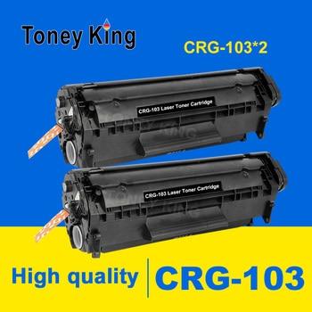 Toney King 2 pcs Compatible easy refill Black Toner CRG-103 CRG-303 CRG-703 for canon lbp-2900/3000 toner cartridge with Chip