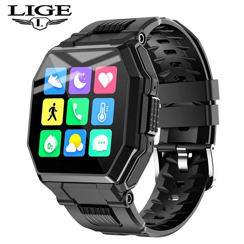 LIGE Новый смарт-часы для мужчин и женщин спортивные часы кровяное давление мониторинг сна фитнес-трекер ios и Android с функцией шагомера Smartwatch