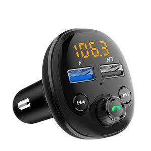 Image 5 - QC 3.0 شاحن سيارة سريع بلوتوث المزدوج USB شاحن الهاتف المحمول سيارة Fm الارسال شحن سريع MP3 TF بطاقة الموسيقى سيارة عدة لاعب