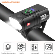 Headlights Bicycle-Lamp Strong-Light Usb Rechargeable Cycling-Torch 1000LM T6 2--T6 Power-Display