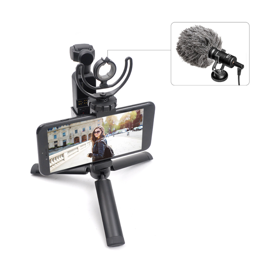 GoolRC STARTRC OSMO Pocket Handheld Mobile Phone Aluminum Tripod Mount Stand Expansion Holder with USB Cable for DJI OSMO Pocket Suitable for iPhone iOS System