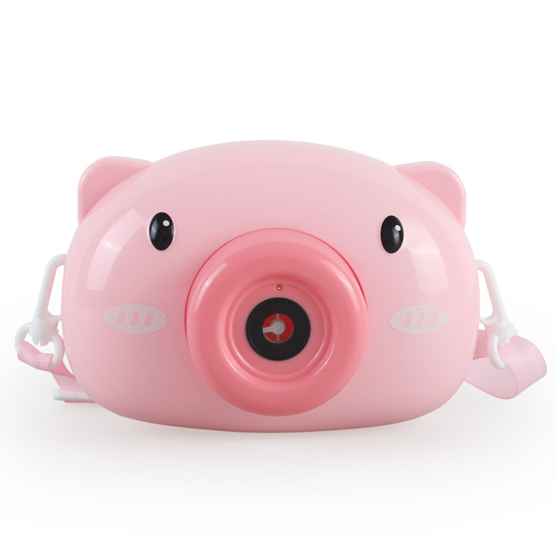 Bubble Camera Cartoon Pig Bubble Camera Children's Girl Toys Blowing Bubble Shooting Props Boutique