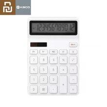 جديد Youpin LEMO آلة حاسبة سطح المكتب كهروضوئي مزدوج للغوص 12 رقم عرض إيقاف تلقائي لعمل تمويل المكاتب