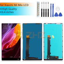 """Dla Xiao mi mi mi x wyświetlacz lcd dla Xiao mi mi mi x wymiana ekranu dotykowego Digitizer montaż z ramą części zamienne do napraw 6.4"""""""