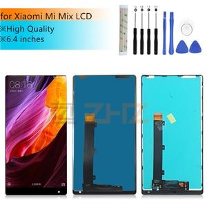 "Image 1 - ل Xiao mi mi mi x شاشة الكريستال السائل ل Xiao mi mi mi x اللمس قطع غيار للشاشة محول الأرقام الجمعية مع الإطار إصلاح قطع الغيار 6.4"""