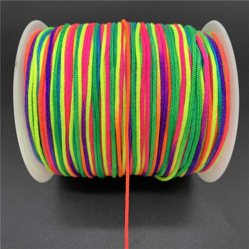 0.5/0.8/1.0/1.5 millimetri Cavo di Nylon Filetto Nodo Cinese Macrame del Braccialetto Del Cavo Intrecciato Stringa FAI DA TE Nappe che borda Per Shamballa Corda