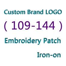 (109-144) marque LOGO personnalisé broderie patch pour vêtements broderie rayures sur vêtements marque Appliques autocollants fer sur patchs