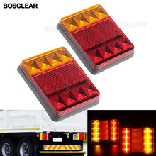 12V 24V Waterproof Durable Car Truck LED Rear Tail Light Warning Lights Rear Lamp for Trailer Caravans UTE Campers ATV Boats(China)