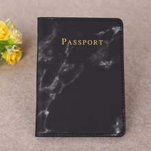 Fashion Women Men Passport Cover Pu Leather Marble Style Travel ID Credit Card Passport