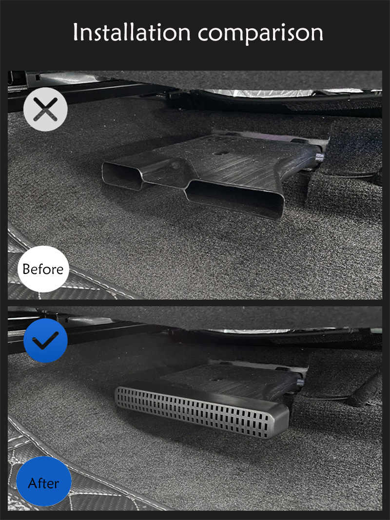 Автомобильный нагревательный напольный кондиционер на заднее сиденье, сетчатая крышка, маска на воздуховод, аксессуары для Hyundai Tucson NX4 otali.ru 2022