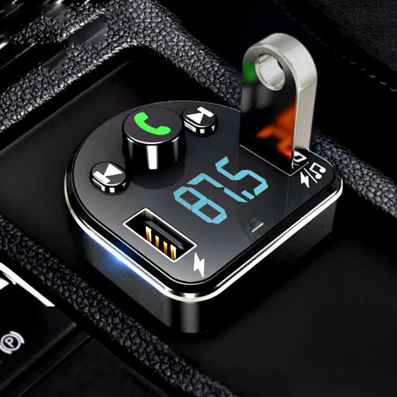 車の音楽プレーヤーの bluetooth mp3 多機能ハンズフリーデュアル USB ワイヤレス受信スマートフォン充電器
