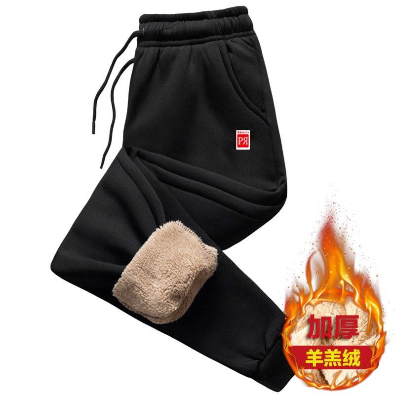 2020 Thick Fleece Jogger Mens Pants Sports Cotton Trousers Male Winter Warm Velvet Sweatpants Harem Pencil Tracksuit Autumn 4Xl