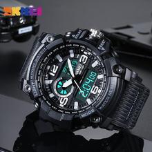 Skmei военный камуфляж спортивные часы светодиодный Дисплей