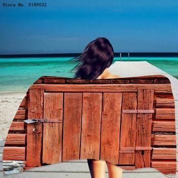 Podróż ręcznik plażowy z mikrofibry ręcznik plażowy drewniany ręcznik kąpielowy dla dzieci pływanie ręcznik sportowy 3d antyczne drzwi drukuj ręcznik Dropship tanie i dobre opinie CN (pochodzenie) Beach Towel Bez wzorków wyszywana Rectangle 480g St-01 Szybkoschnący można prać w pralce 11 s-15 s